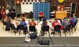 Earnhardt, National Guard visit Kansas high school