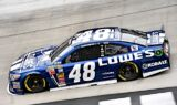 Jimmie Johnson, No. 48 team at Bristol