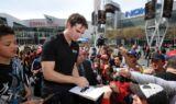 Jeff Gordon visits L.A. Live for Auto Club