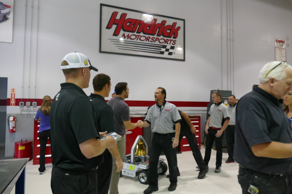 Windy City Motorsports >> Johnson celebrates Kansas win with Victory Bell   Hendrick Motorsports