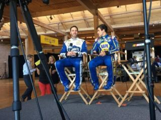 Behind the Scenes: Elliott, Johnson at Chase Media Day